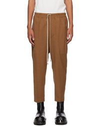 Rick Owens Tan Wool Astaires Trousers