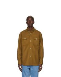 Versace Brown Wool Felt Jacket