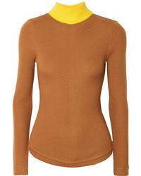 Emilia Wickstead Harry Ribbed Wool Turtleneck Sweater
