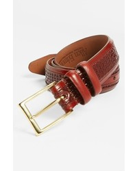 Allen Edmonds Woven Inlay Leather Belt