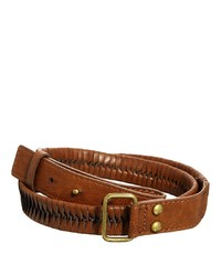 Asos Leather Belt With Plait