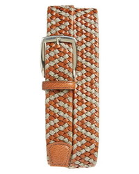 Torino Braided Leather Linen Belt