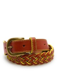 Outlet neon trimmed woven belt medium 160132