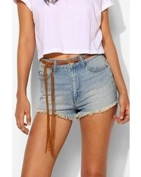 Urban Outfitters Ecote Braided Fringe Tie Belt