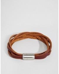 Reclaimed Vintage Leather Woven Bracelet