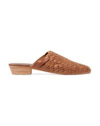 ST. AGNI Paris Woven Leather Slippers