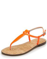 Tongs en cuir orange Sam Edelman