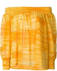 Top con hombros descubiertos amarillo de Saint Laurent