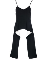 Top con sobrefalda de encaje negro de Givenchy
