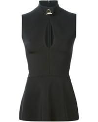 Top con sobrefalda negro de Givenchy