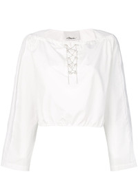Top corto blanco de 3.1 Phillip Lim