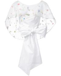 Top corto de seda blanco de Rosie Assoulin