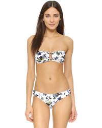 Top de bikini à fleurs blanc Proenza Schouler