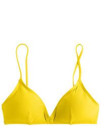 Top de bikini amarillo de J.Crew