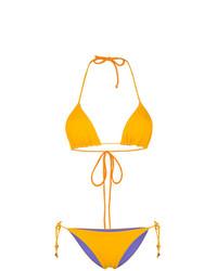Top de bikini amarillo de TARA MATTHEWS