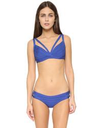 Top de bikini azul de Herve Leger