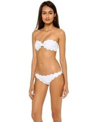 Top de bikini blanco