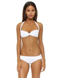 Top de bikini blanco de Norma Kamali