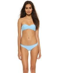Top de bikini bleu clair