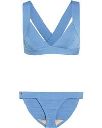 Top de bikini celeste de Herve Leger