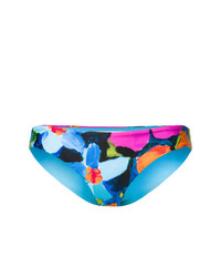Top de bikini con print de flores en turquesa de Mara Hoffman