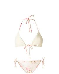Top de bikini de crochet blanco de Zimmermann