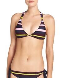 Top de bikini de rayas horizontales azul de Ted Baker