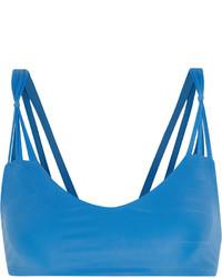 Top de bikini découpé bleu Mikoh