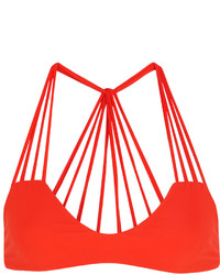 Top de bikini découpé orange Mikoh