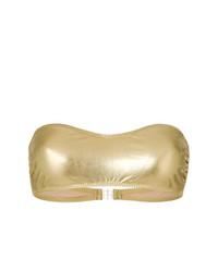 Top de bikini dorado de Norma Kamali