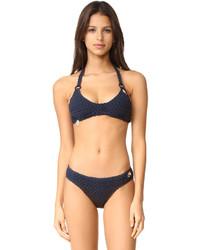 Top de bikini en crochet bleu marine Stella McCartney