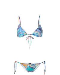 Top de bikini estampado en multicolor de Etro