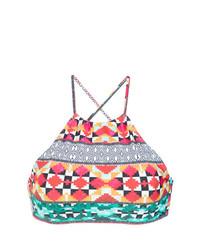 Top de bikini estampado en multicolor de Lygia & Nanny