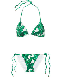 Top de Bikini Estampado Verde de Dolce & Gabbana