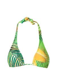 Top de bikini estampado verde de Lygia & Nanny