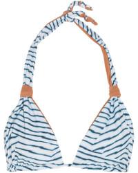 Top de bikini imprimé bleu clair Vix