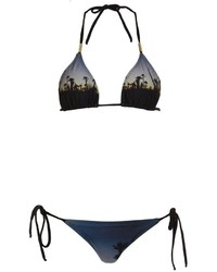 Top de bikini imprimé bleu marine BRIGITTE