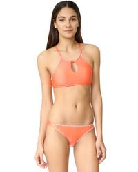 Top de bikini naranja de Splendid
