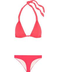 Top de bikini rojo de Eberjey