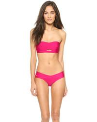 Top de bikini rosa de Herve Leger