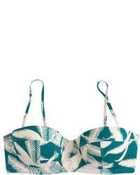 Top de bikini verde oscuro de J.Crew