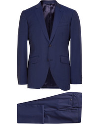 Traje de lana azul marino de Hackett