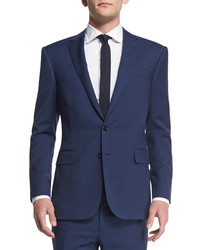 Traje de lana azul marino de Ralph Lauren