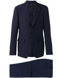 Traje de lana azul marino de Salvatore Ferragamo