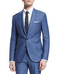 Traje de lana azul de Brunello Cucinelli