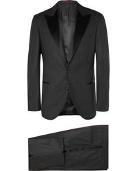 Traje de lana en gris oscuro de Brunello Cucinelli