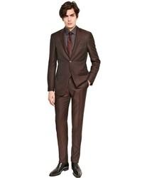 Traje de lana en marrón oscuro de Canali