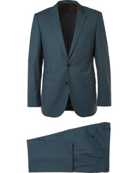 Traje de lana en verde azulado de Hugo Boss