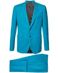 Traje de lana en verde azulado de Paul Smith