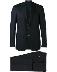 Traje de lana negro de Corneliani